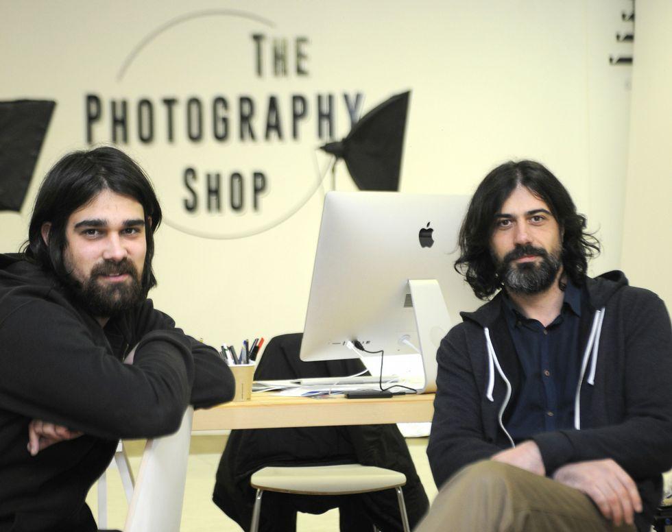 Fernando García y Anxo Álvarez, promotores de la iniciativa solidaria.