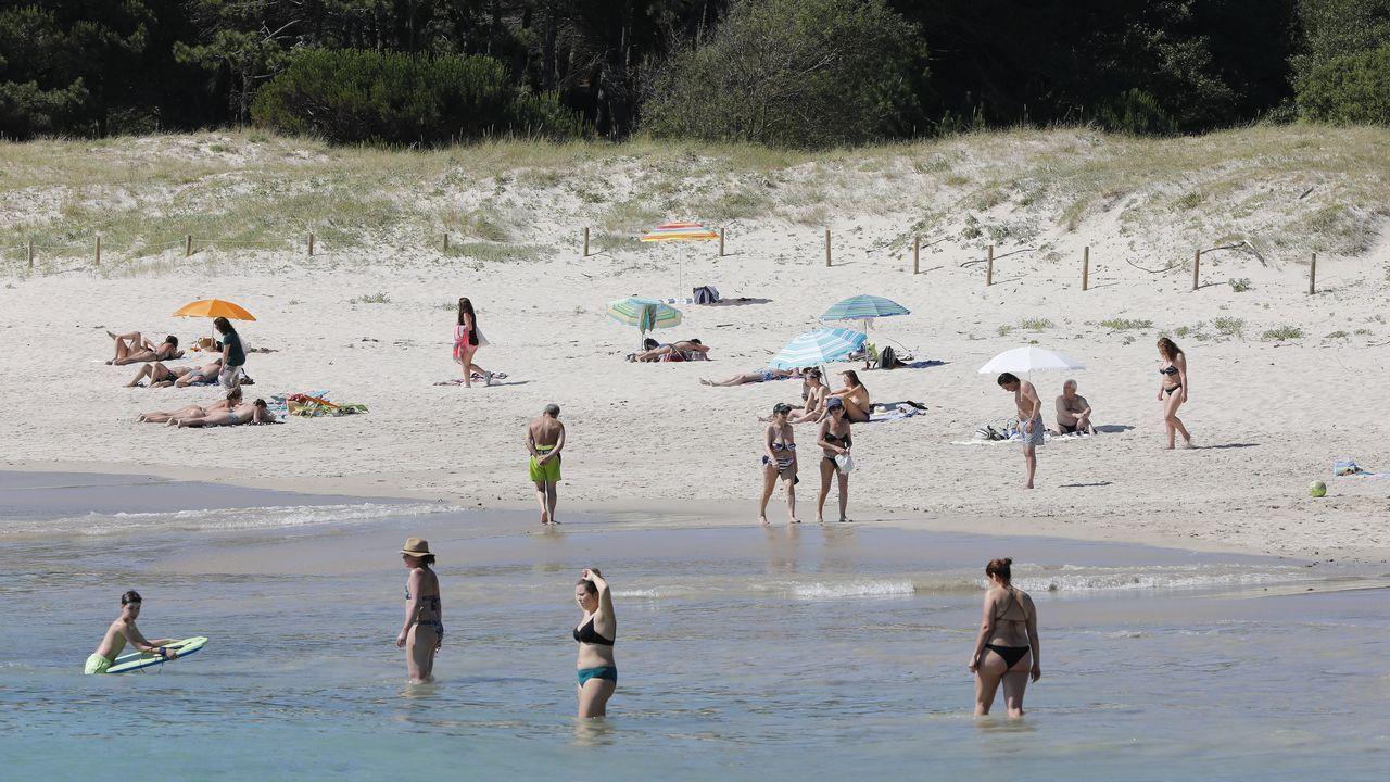 Playa de Menduiña, en Aldán