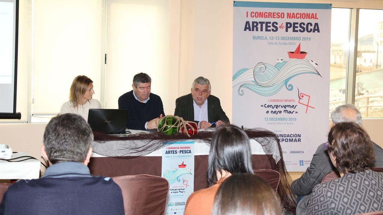 Dirigentes de organizaciones pesqueras y de cofradías se reúnen cada mayo en Burela en el encuentro empresarial organizador por Expomar, en una imagen del celebrado en 2018