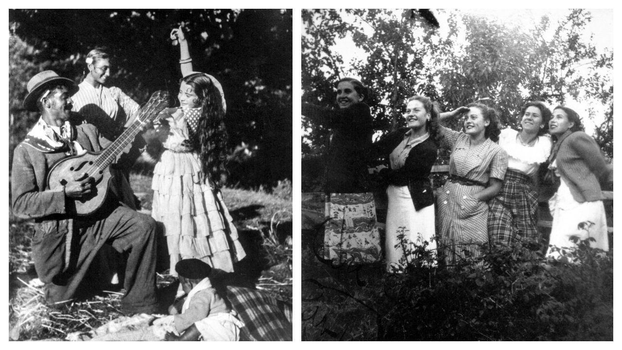 Dos escenas fotografiadas por Maruja Roca.
