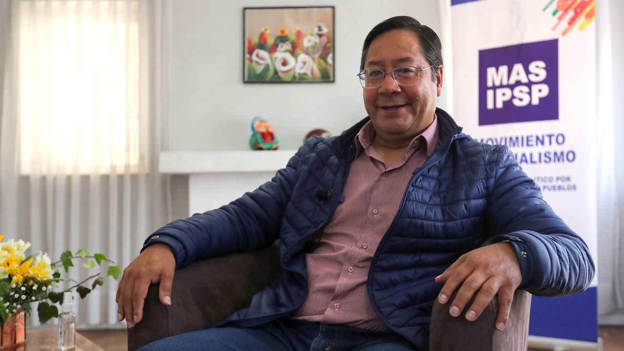Luis Arce, candidato presidencial por el MAS