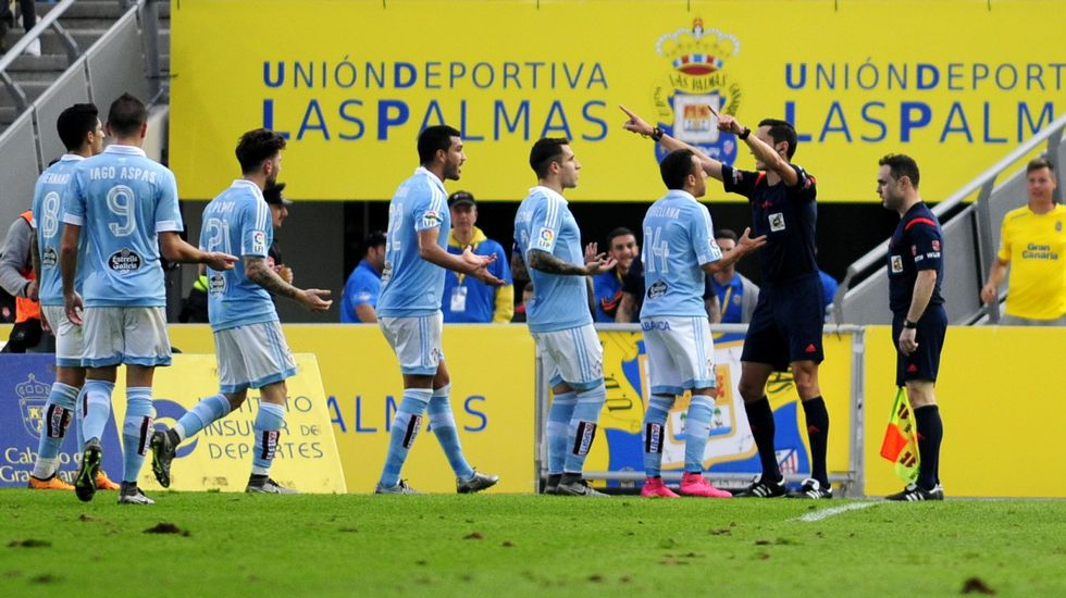 La derrota del Celta frente a la UD Las Palmas, en imágenes