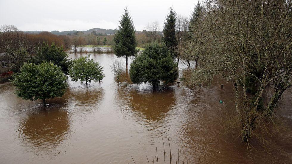 Inundaciones por el temporal de lluvia en Galicia.