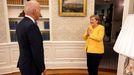 El presidente de Estados Unidos, Joe Biden, recibe a la canciller alemana, Angela Merkel, el pasado 15 de julio, en el Despacho Oval
