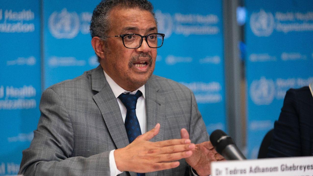 El director general de la Organización Mundial de la Salud, Tedros Adhanom Ghebreyesus