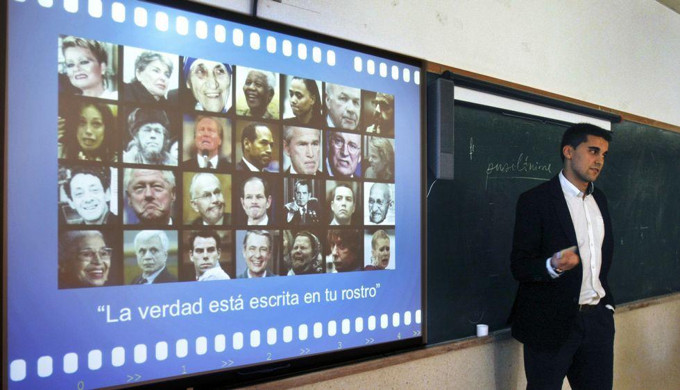 Villamarín enseñó a reconocer las emociones en los rostros de los personajes públicos.