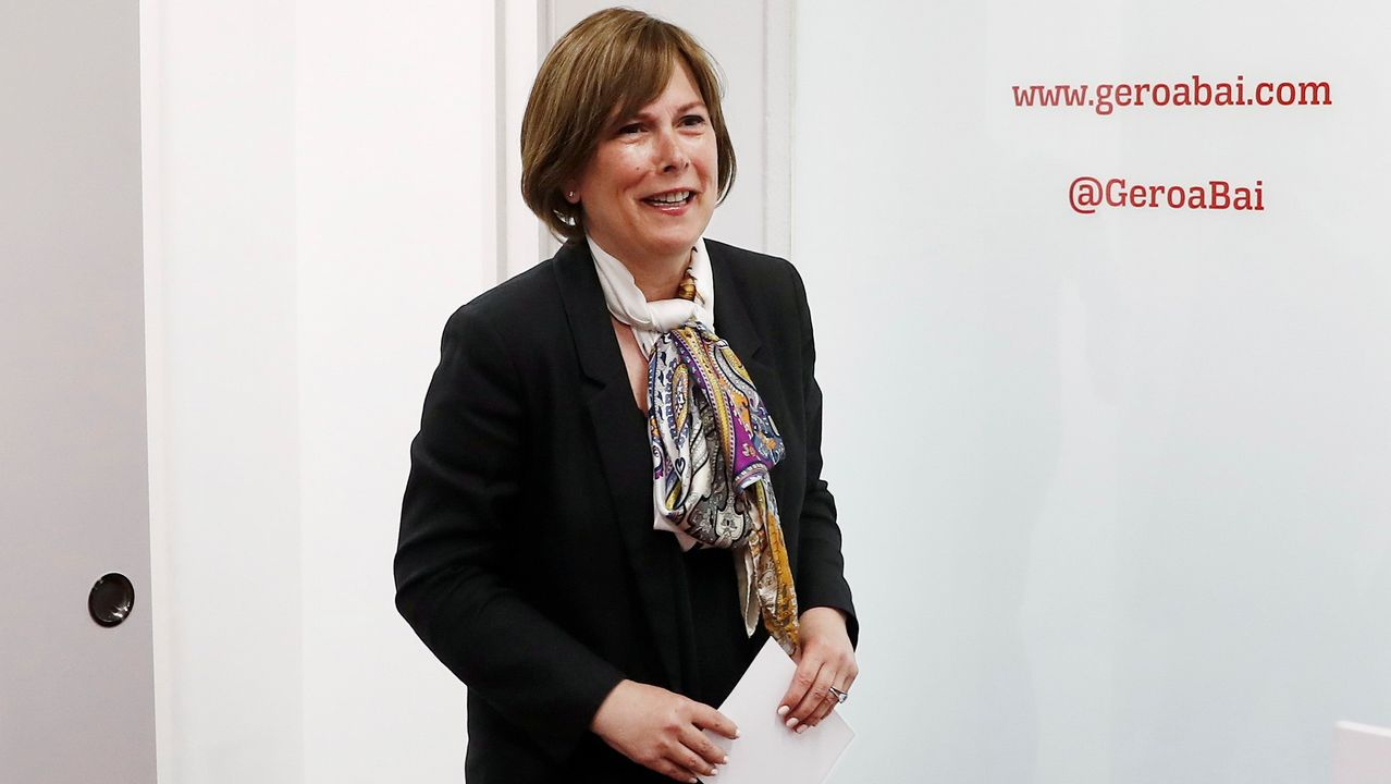La presidenta del Gobierno de Navarra en funciones, Uxue Barkos