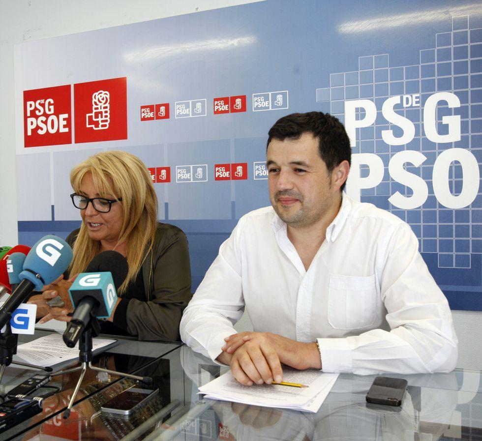 María Quintas y el exalcalde de Piñor, Francisco Fraga.