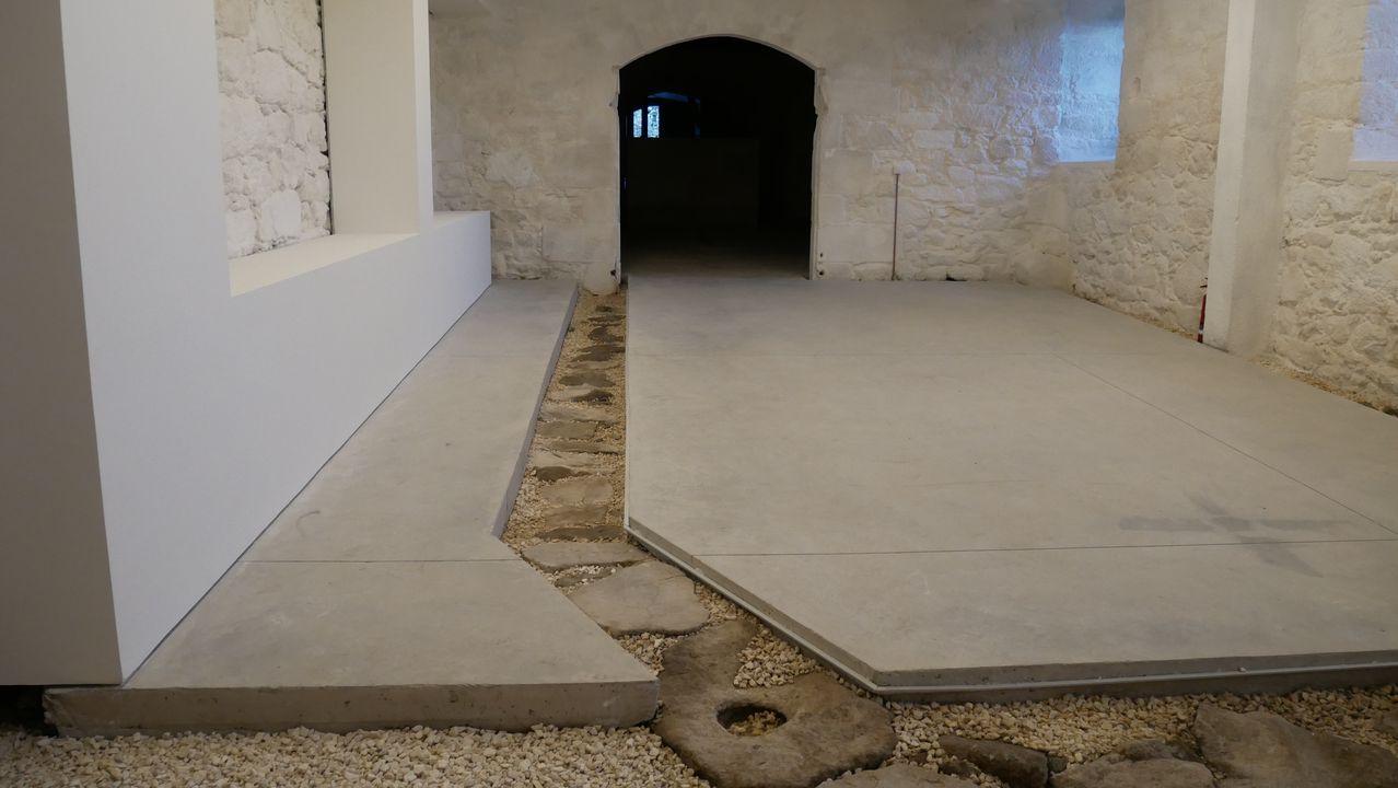 Una de las dependencias que se acaban de rehabilitar en el convento de las Bernardas de Ferreira de Pantón