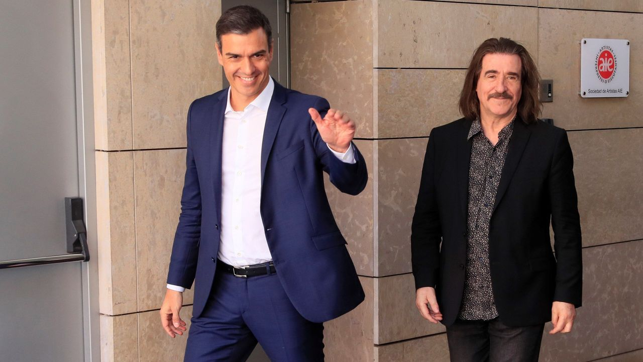 Dentro de sus reuniones con el sector de la cultura, Pedro Sánchez se reunió este viernes con el presidente de la entidad de gestión de Artistas Intérpretes o Ejecutantes de España (AIE), el músico Luis Cobos
