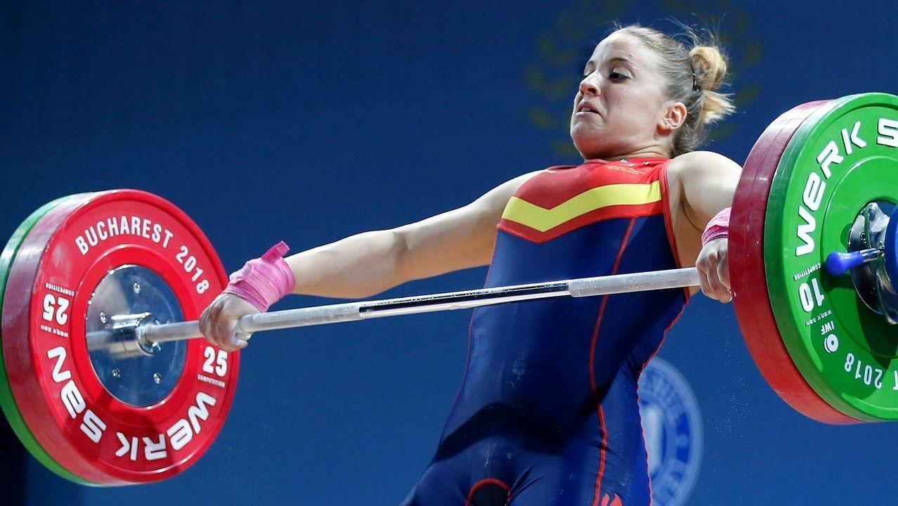 Irene Martínez. Fue medalla de bronce de arrancada en el Europeo de halterofilia del pasado año.