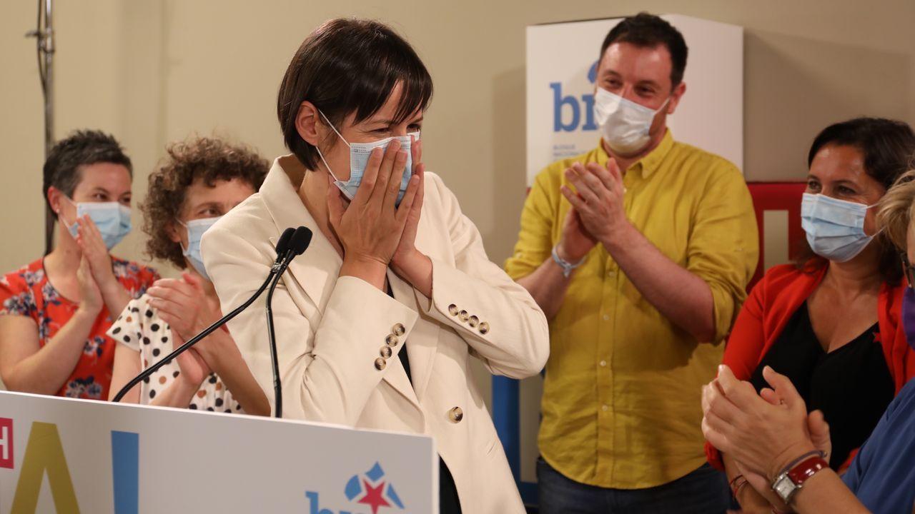 Ana Pontón, líder del BNG, celebra los 19 diputados que ha conseguido su formación