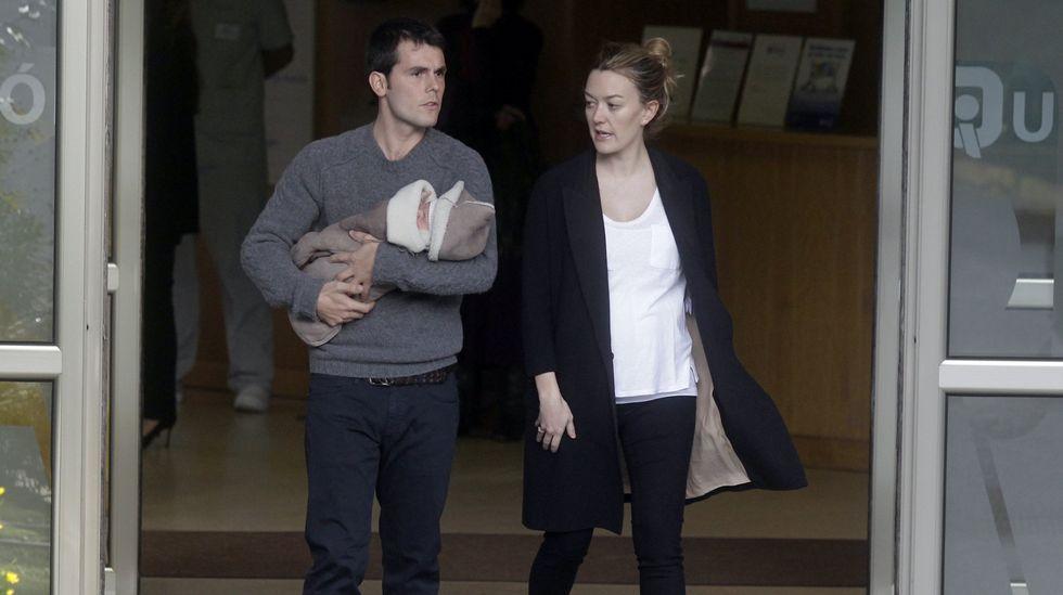 Amancio Ortega se deja por ver con su familia en Casas Novas.Marta Ortega y Sergio Álvarez, el día que nació su hijo Amancio