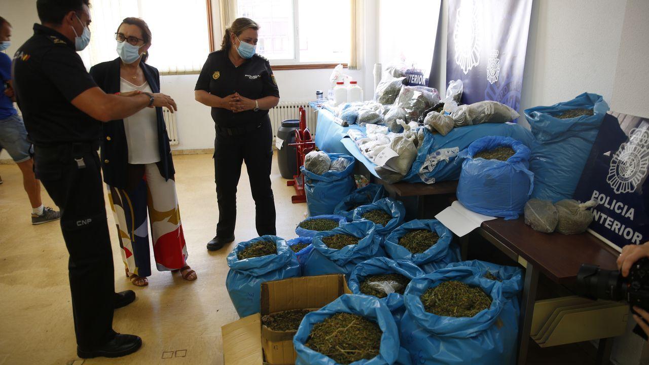 Operación antidroga en la que se desmanteló un laboratorio de droga en Meis