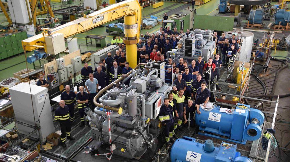 La plantilla de la fábrica de Turbinas de Navantia Ferrol