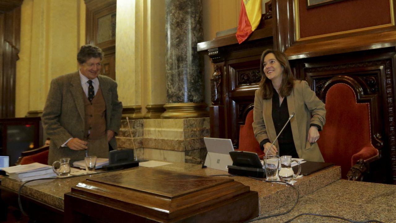 Imagen de archivo, con la alcaldesa presidiendo el pleno municipal celebrado el pasado 16 de enero.