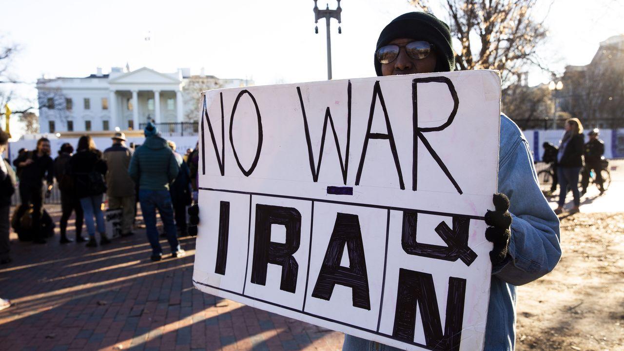 Protestas contra la guerra frente a la Casa Blanca, en Washington