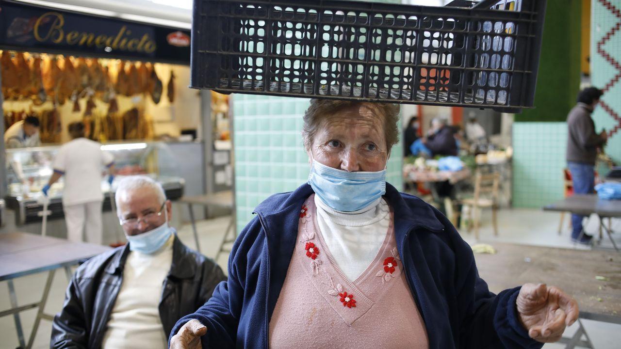 Maruja Novo praceira que leva 50 anos no mercado en Lugo.Algunas de las imágenes compartidas en las redes sociales de la asociación