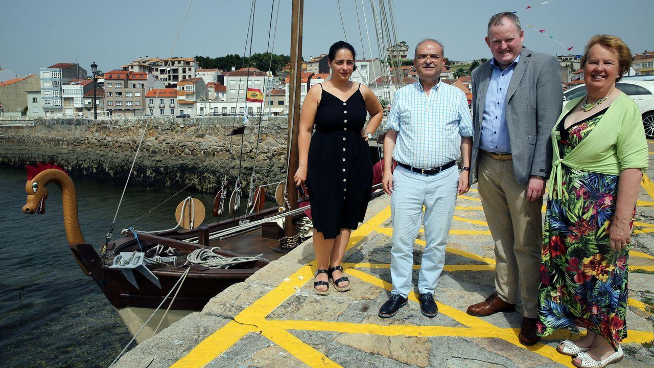 Las imágenes del desembarco vikingo en Catoira.El Arnoia. En Allariz, O Arnado y Acearrica disponen de espacios verdes a la orilla del río