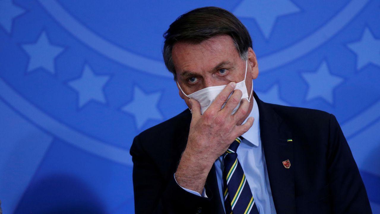 Bolsonaro, en un acto el pasado 17 de junio