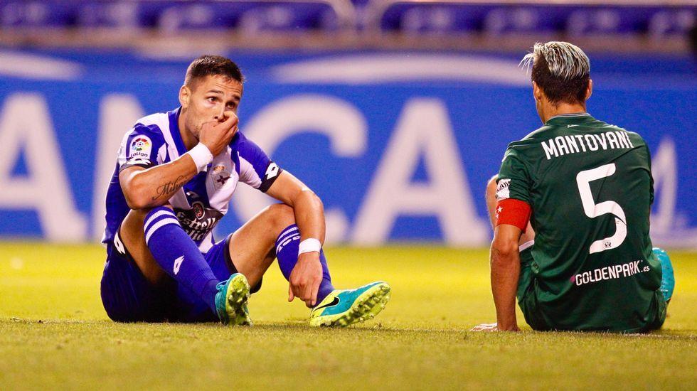 El Deportivo-Leganés, en fotos.Borja Domingo, durante el partido contra el Choco
