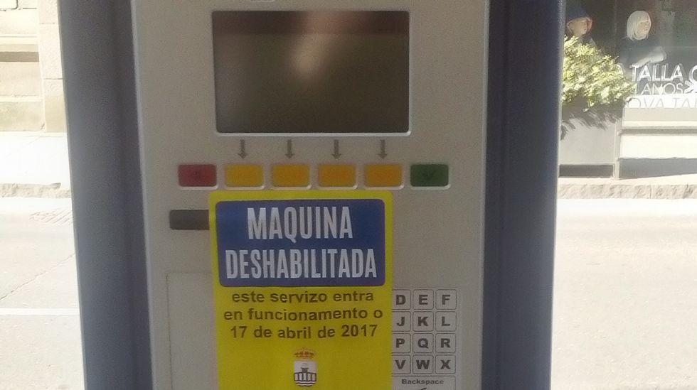 Las nuevas máquinas de la ORA ya están instaladas, pero fuera de servicio