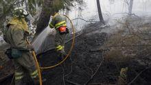 Incendio forestal en la parroquia de Padróns (Ponteareas) en el 2015