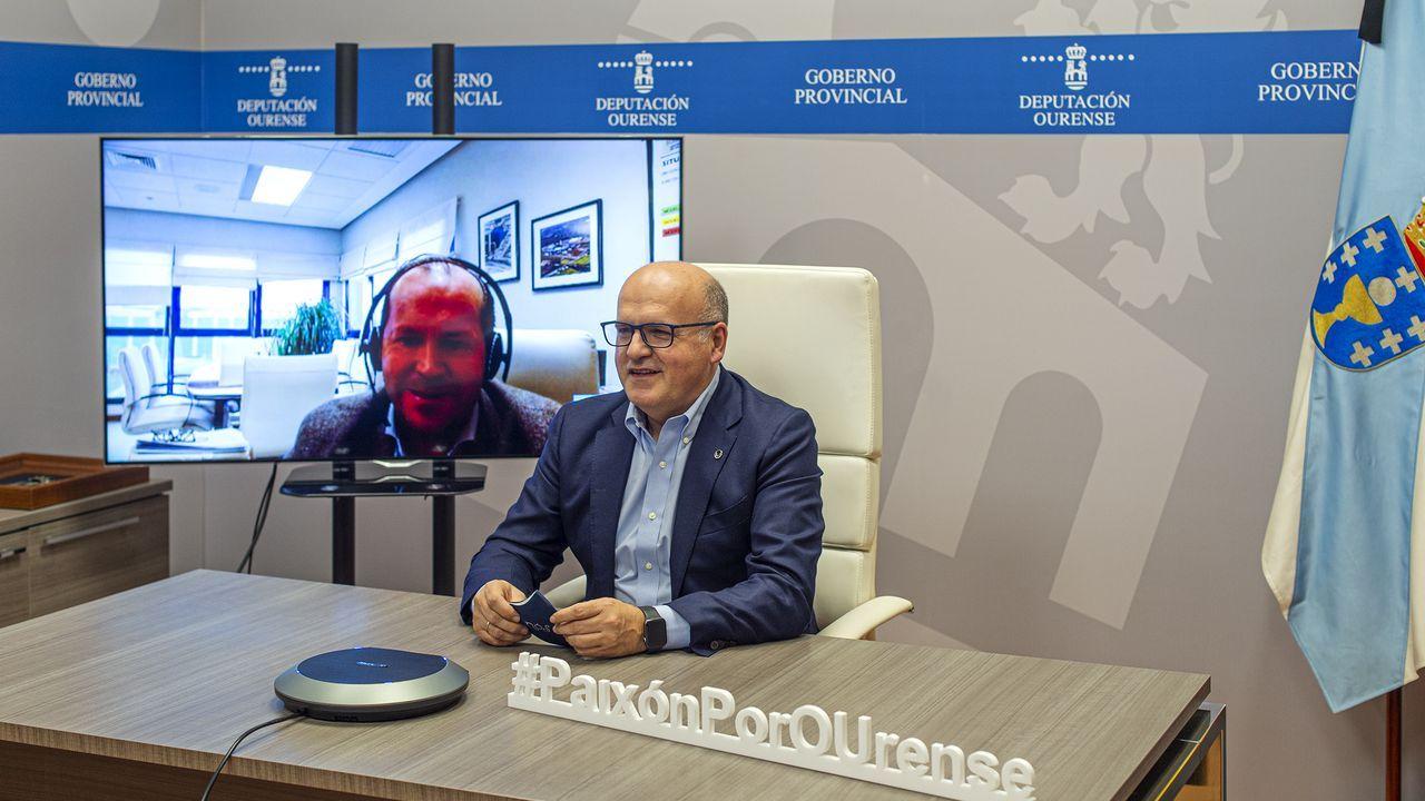 Videoconferencia del presidente de la Diputación y el de Sogama
