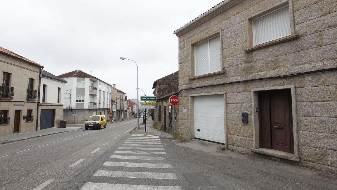 Vivienda de Cambados en la que reside Luis Augusto Fariña  y registrada ayer por ECO Galicia de la Guardia Civil