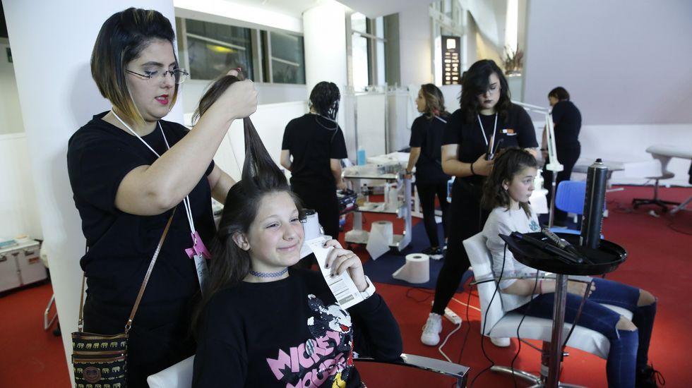 Los estands de peluquería siempre tenían cola en la feria FP Innova