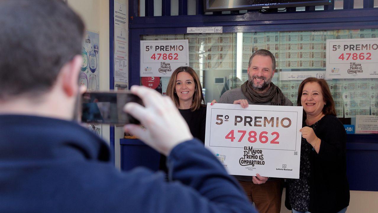 El número 47.862 ha sido premiado con el primero de los quintos premios, dotado con 60.000 euros la serie y con 6.000 euros cada décimo, del Sorteo de la Lotería de Navidad.