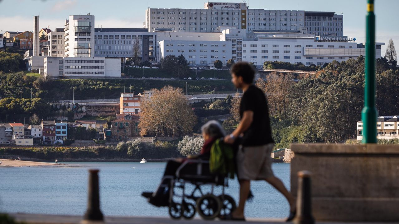 Toni.Vista del Hospital Universitario A Coruña (Chuac)