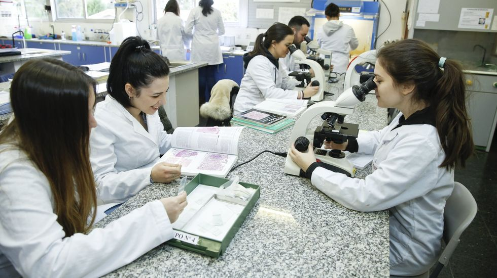 Los ciclos sanitarios en el IES Lamas de Abade, de Santiago, son muy solicitados