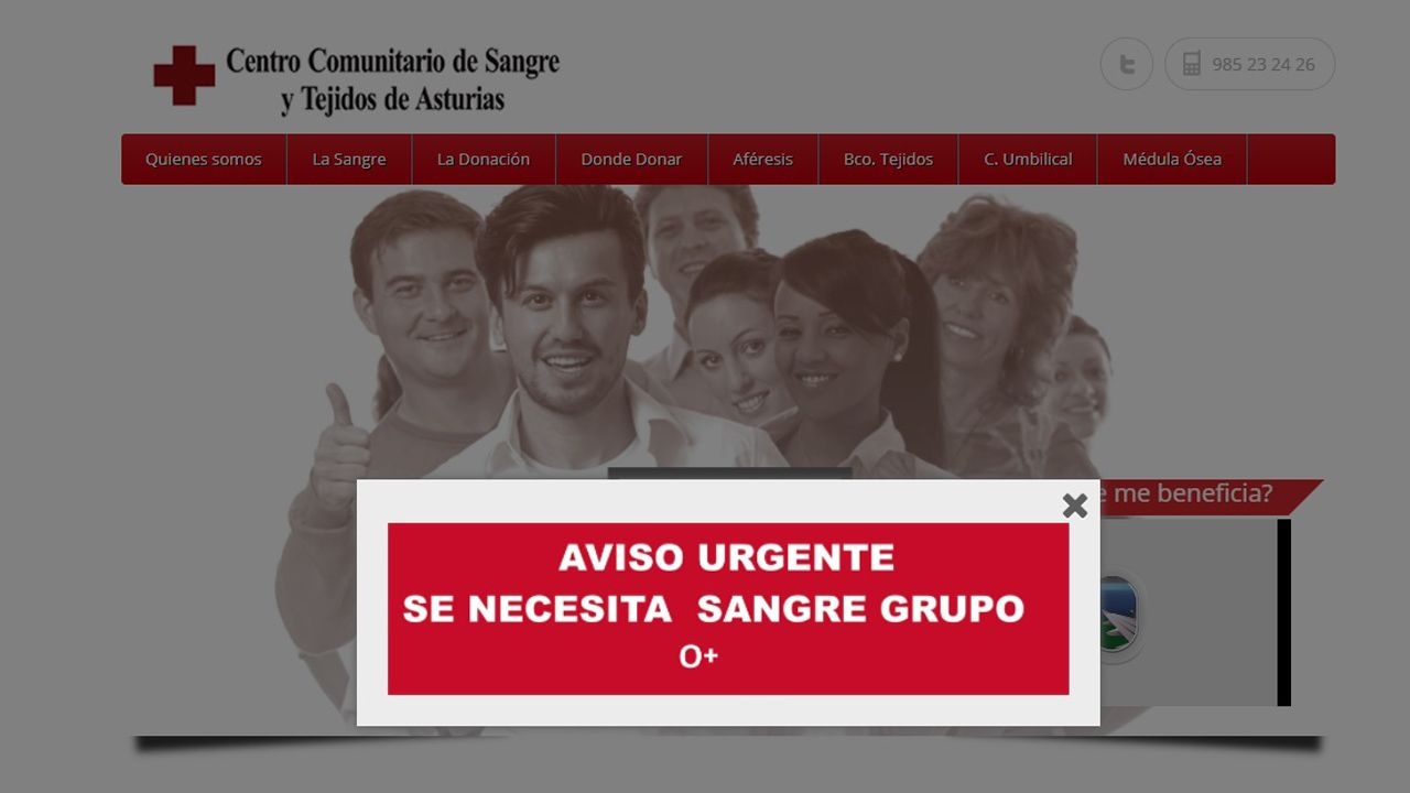 El Centro Comunitario de Sangre y Tejidos busca donantes del tipo 0+.El Centro Comunitario de Sangre y Tejidos busca donantes del tipo 0+