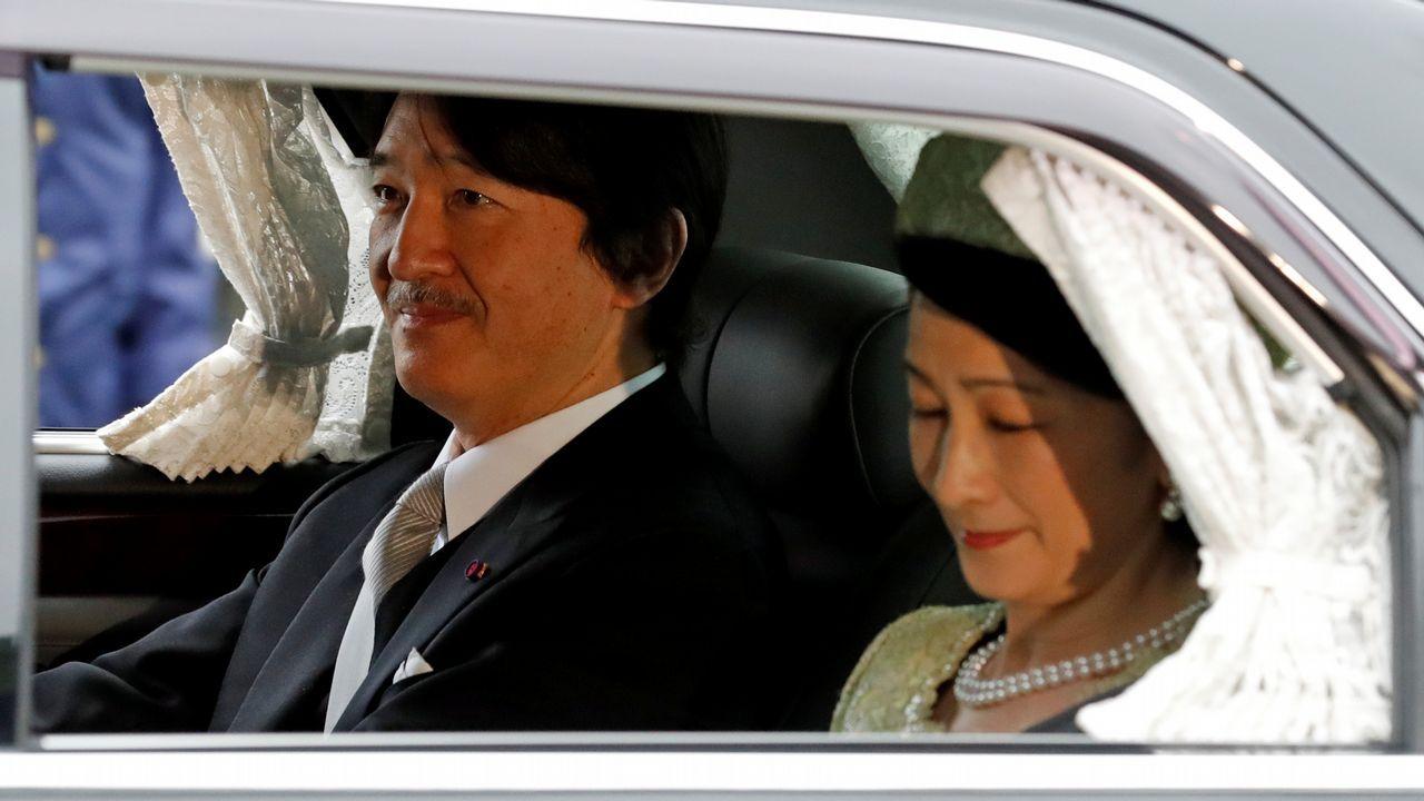 La ceremonia de abdicación de Akihito, en imágenes.El nuevo emperador de Japón, Naruhito, y su esposa la emperatriz Masako.