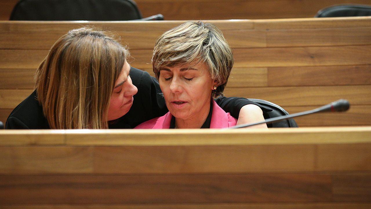 Gimena Llamedo y la diputada de Ciudadanos Ana Coto