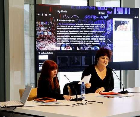 Ana Isabel Vázquez y Teté Delgado presentaron «Ligaflash».