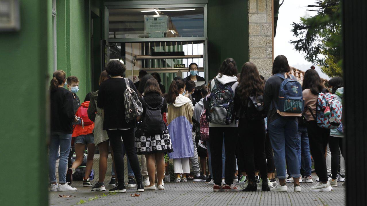 Primer día de clase en el IES Canido, en Ferrol
