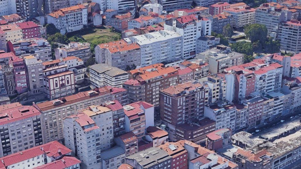 Entre los cinco primeros. Junto a Marqués de Valterra, en O Berbés (Vigo), hay 7.000 personas por kilómetro cuadrado