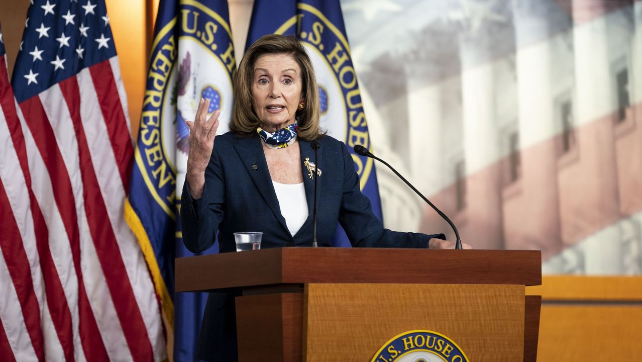 La presidenta de la Cámara de Representantes, la demócrata Nancy Pelosi