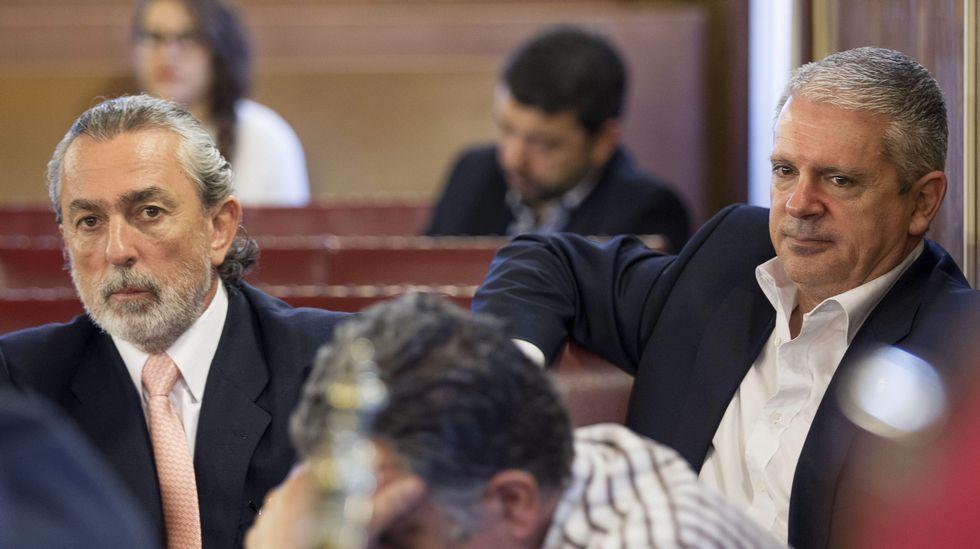 Francisco Correa y Pablo Crespo, durante el juicio