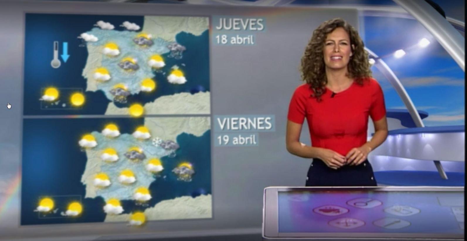 En la previsión de Mediaset para este viernes no se muestra la diferencia entre Galicia y el resto de España. Los símbolos de chubascos, con sol, nube y lluvia aparecen en todas las comunidades
