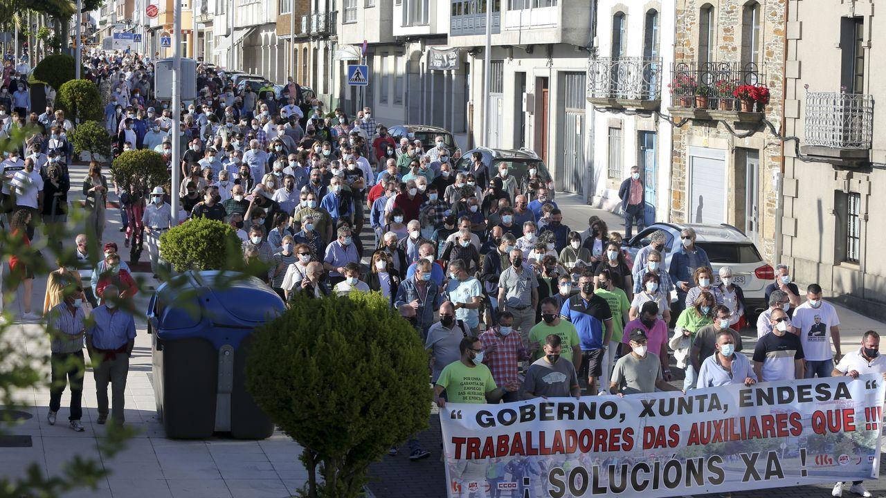 Áreas recreativas en la comarca de Ferrol.Protesta en As Pontes