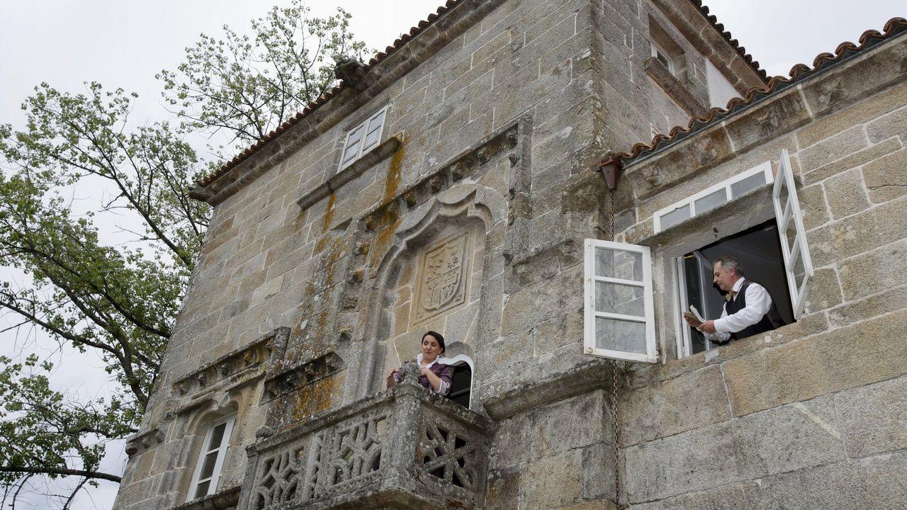 ¡Búscate en la gran sardiñada de A Ponte do Porto! ¡Álbum!.Tero Rodríguez, no papel de Silvina, en Moraime (Muxía)