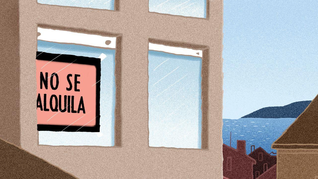 Concentración de afectados por la hipoteca contra un desahucio.Cristina Morales, en una visita reciente a Ciudad de México