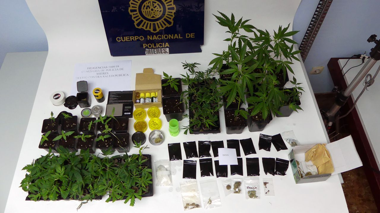 Desmantelan un punto de venta de droga en Arteixo y detienen a tres personas.Policía local de Gijón