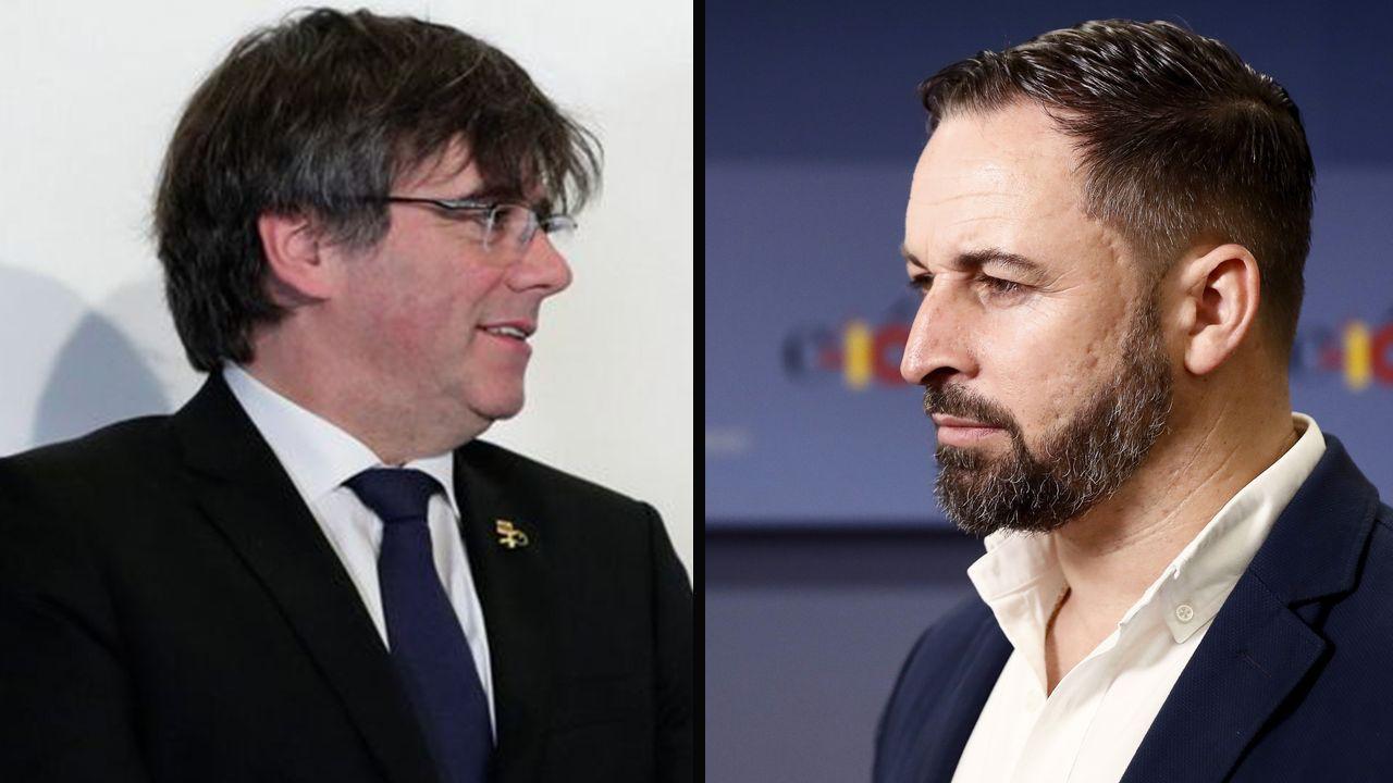 Carles Puigdemont y Santiago Abascal