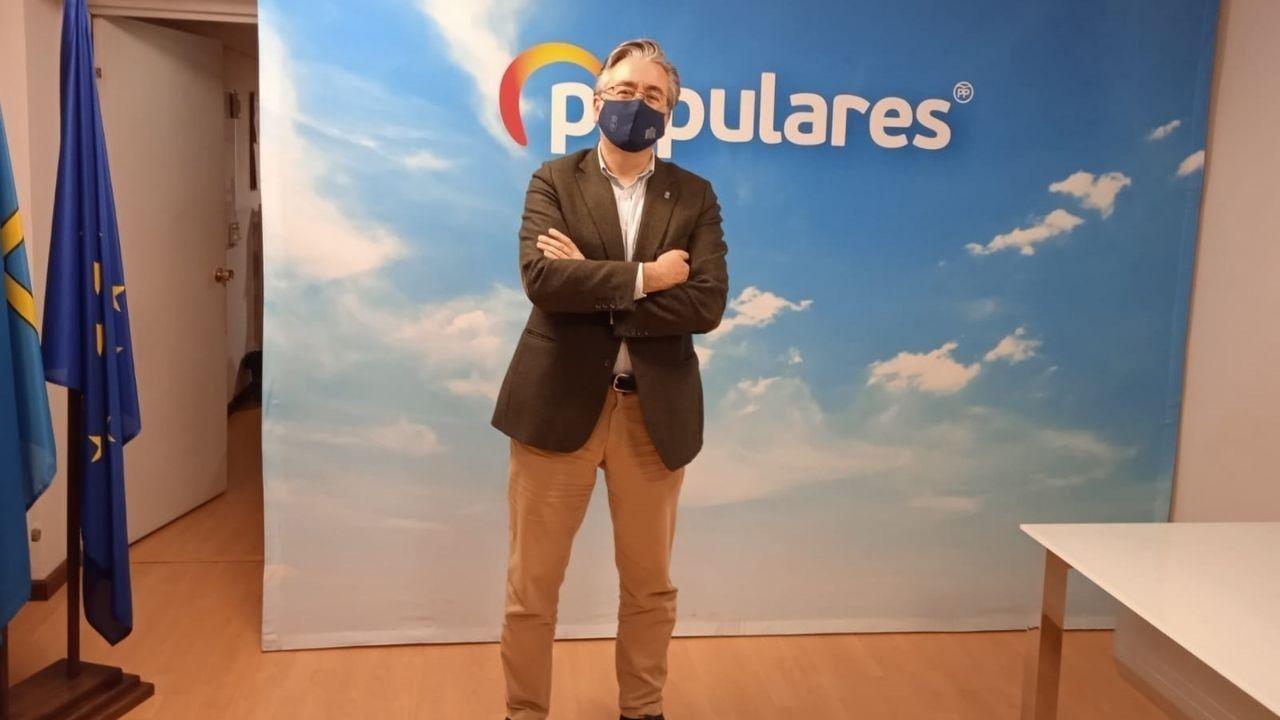 Pablo González, presidente del Partido Popular de Gijón