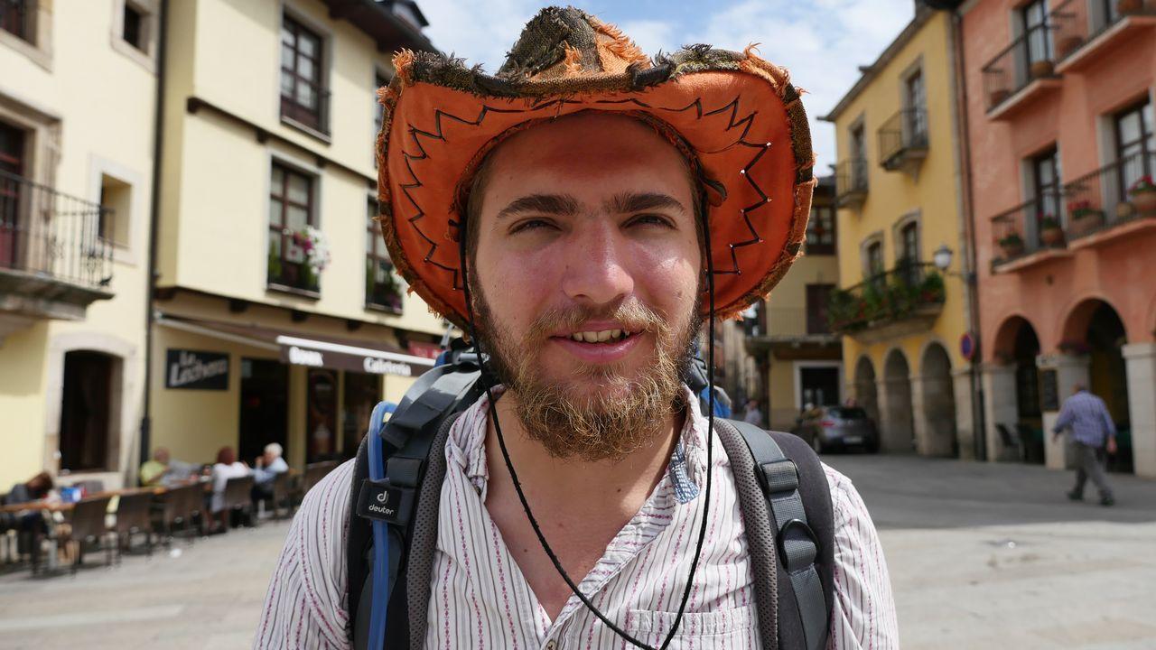 Un peregrino inglés, en Ponferrada