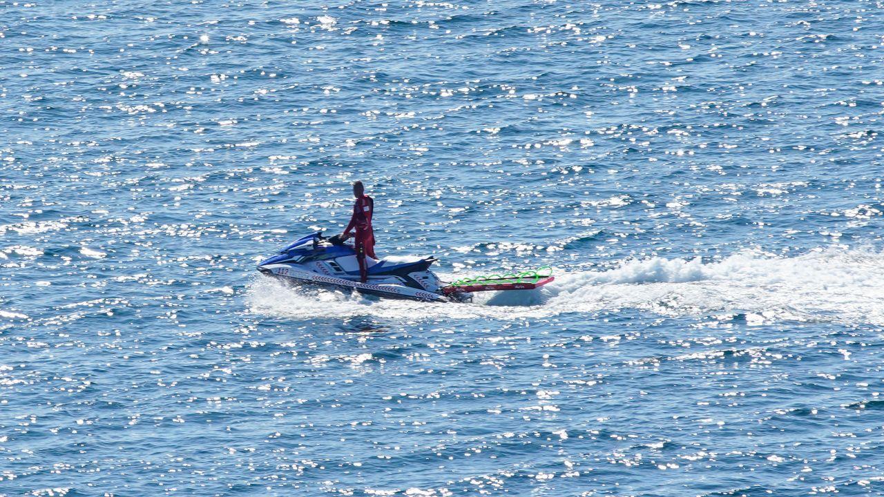 También se utilizaron motos de agua en el operativo de búsqueda